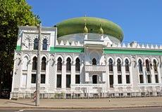 Al-Salam Mosque och den arabiska kulturella mitten lokaliseras i Odessa, Ukraina Fotografering för Bildbyråer