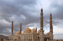 The AL-Saleh mosque in Sanaa, Yemen Royalty Free Stock Photography