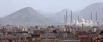 Al Saleh Mosque a Sanaa, Yemen Fotografia Stock Libera da Diritti