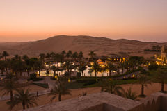 Al Sarab Qasr на зоре Стоковая Фотография RF