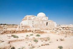 Al Sarah van Hammam woestijnkasteel, Jordanië stock afbeeldingen