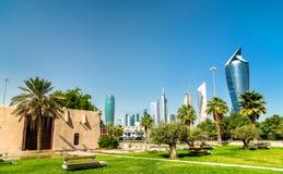 Al Shaab Gate in de Stad van Koeweit stock afbeelding