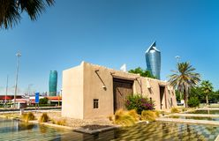 Al Shaab Gate in Kuwait City. Kuwait, the Middle East stock photography