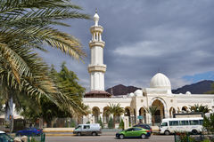 Al Sharif Hussein Bin Ali mosque in Aqaba, Jordan Royalty Free Stock Images