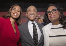 Al Sharpton en Oprah Winfrey stock foto's