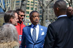Reverend Al Sharpton. Al Sharpton, political activist and host of Politics Nation on MSNBC, at an Aids Awareness rally in Brooklyn, April 2013 Stock Photography