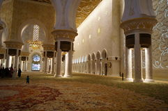 AL SHEIKH ZAYED MOSQUE. IN ABU DHABI Stock Image