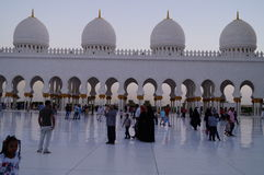 AL SHEIKH ZAYED MOSQUE. IN ABU DHABI Royalty Free Stock Photo