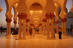 AL SHEIKH ZAYED MOSQUE. IN ABU DHABI Stock Images
