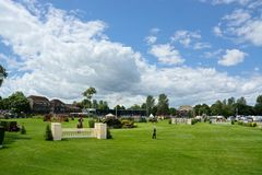 Al Shira`aa Hickstead Derby Showjumping. 20th June 2019. The Al Shira'aa Hickstead Derby Meeting 20-23 June at Hickstead is one of the most popular events royalty free stock photography