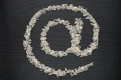 Al simbolo fatto di riso Fotografia Stock