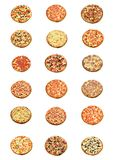 Al soort pizza Stock Afbeeldingen