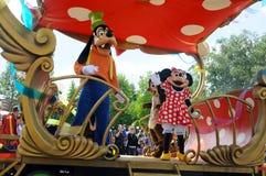 Al ster uitdrukkelijk in Disneyland Stock Foto