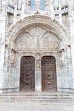 Al sur portal al monasterio de Jeronimos y a x28; Belem, POrtugal& x29; Imagenes de archivo