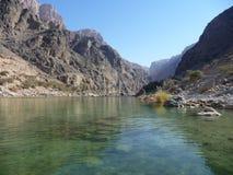 Al Suwayh, Oman van de wadi Royalty-vrije Stock Foto