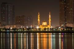 Al Tagwa moské i Sharjah, UAE Royaltyfri Fotografi
