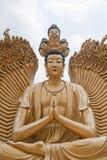 Al tempiale dei 10000 Buddhas Fotografia Stock