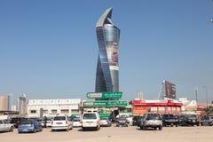 Al Tijaria塔在科威特市 库存照片