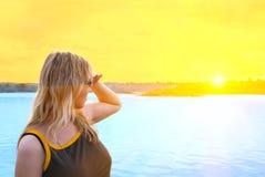 Al tramonto Fotografia Stock