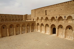 Al Ukhaidar fortress, Iraq. Al Ukhaidar desert fortress near Karbala in Iraq stock images