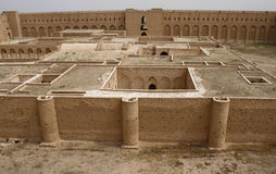 Al Ukhaidar fortress, Iraq. Al Ukhaidar desert fortress near Karbala in Iraq Stock Photos