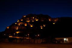 Al-Ula alla notte Fotografia Stock
