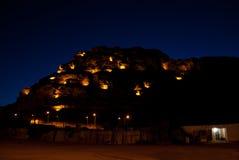 Al-Ula på natten Arkivbild