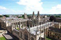 Al Universiteit van Zielen, Oxford Stock Afbeelding
