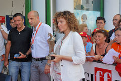 Al Valeria Golino Giffoni-Film-Festival 2011 Lizenzfreie Stockbilder