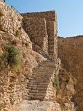 Al van het kasteel van de kruisvaarder - Kerak, Jordanië Stock Foto's