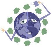 Al wereld is groen Stock Foto's