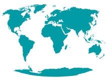 Al Wereldkaart - vector vector illustratie