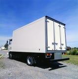 Al witte vrachtwagen klaar voor het brandmerken stock afbeelding