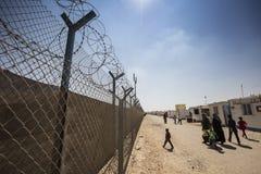 Al Zaatari refugee camp. Jordan life in Al Zaatari refugee camp Royalty Free Stock Images