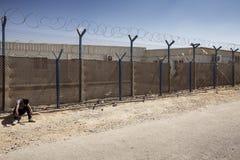 Al Zaatari refugee camp. Jordan life in Al Zaatari refugee camp Royalty Free Stock Photography