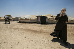 Al Zaatari refugee camp Royalty Free Stock Photos