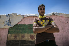 Al Zaatari refugee camp Royalty Free Stock Photos