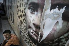 Al Zaatari refugee camp Royalty Free Stock Image