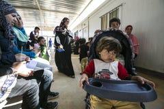 Al Zaatari refugee camp Stock Photo