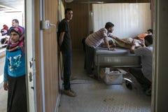 Al Zaatari refugee camp Stock Images