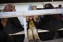 Al Zaatari refugee camp. Jordan life in Al Zaatari refugee camp. The syrian hospital Stock Photography