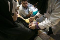 Al Zaatari refugee camp Royalty Free Stock Photo