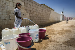 Al Zaatari refugee camp Stock Image