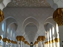 Al Zayed mosque - Abu Dhabi Stock Image
