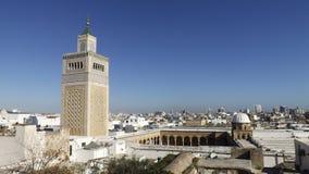 The Al-Zaytuna Mosque and the skyline of Tunis, Tunisia. Stock Image