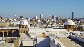 The Al-Zaytuna Mosque and the skyline of Tunis, Tunisia. Stock Photo