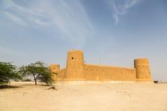 Al Zubara Fort, historic Qatari military fortress. Qatar. Middle East. Persian Gulf. Al Zubara Fort Az Zubarah Fort, historic Qatari military fortress built royalty free stock photo
