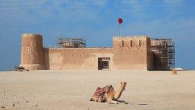 Al Zubara-fort in Qatar stock videobeelden