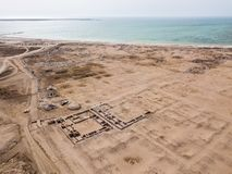 Al Zubarah, ruined ancient Arabian town, north-western coast of the Qatar peninsula, Al Shamal. Middle East. Persian Gulf. stock photography