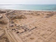 Al Zubarah, ville Arabe antique ruinée, côte du nord-ouest de la péninsule du Qatar, Al Shamal photographie stock